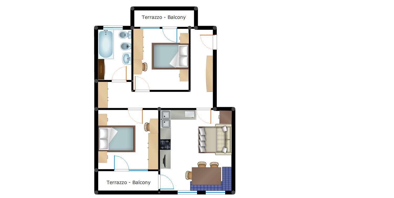 Piantina Appartamento Quadrifoglio n°6